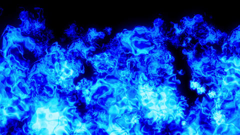 fire explosion all blue Animation