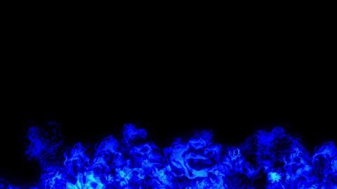 fire explosion under blue CG動画