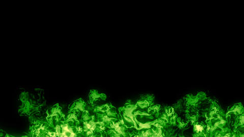 fire explosion under green Animation