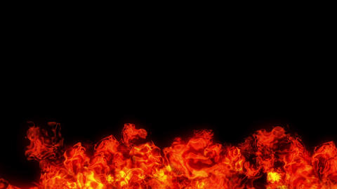 fire explosion under red Animation