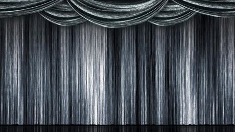 Stage Curtain Open Close silver Animation