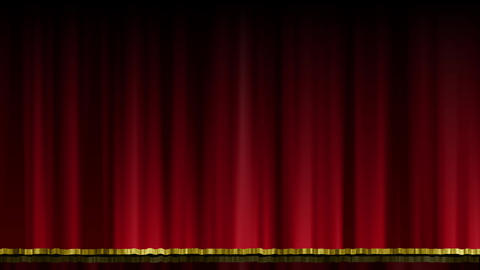Stage Curtain UpDown red Animation