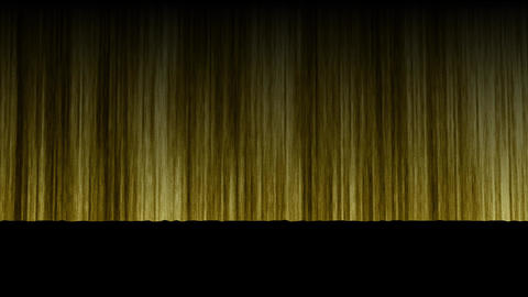 Stage Curtain UpDown gold Stock Video Footage