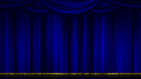 Stage Curtain Zoom blue Animation