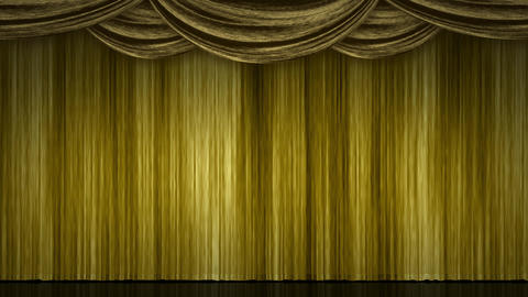 Stage Curtain Zoom gold Animation