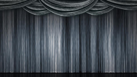 Stage Curtain Zoom silver Animation