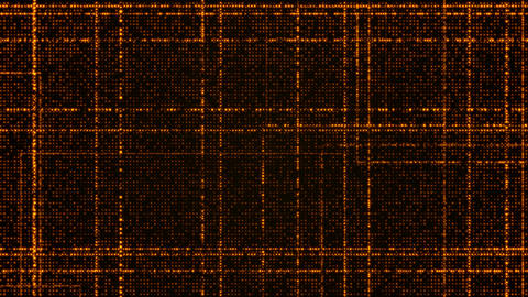 0286 Grid of orange glowing particles Animation