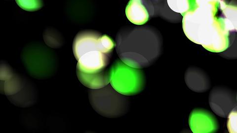 Bokeh Gibbous green CG動画