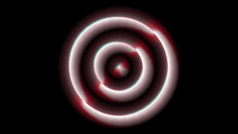 Concentric Monospace red Animation