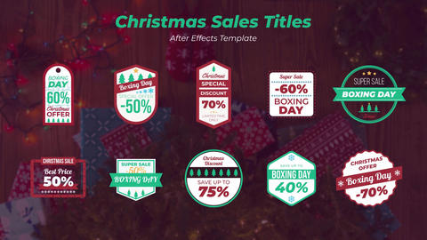 Christmas Sales Titles After Effects Template