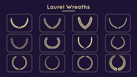 Laurel Wreaths Motion Graphics Template