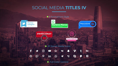 Social Media Titles IV Motion Graphics Template