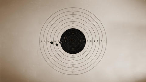 Shooting target On Vintage Background Animation
