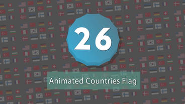 Countries Animated Flags Pack Motion Graphics Template