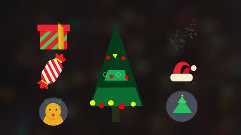 Christmas Animated Elements Pack Motion Graphics Template