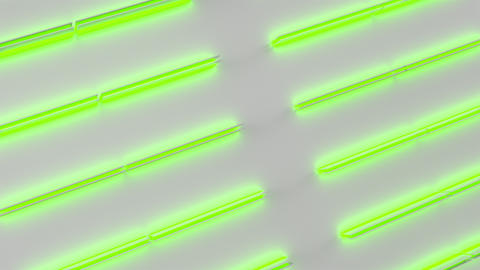 0580 White looped futuristic background with green glowing lines and elements Animation