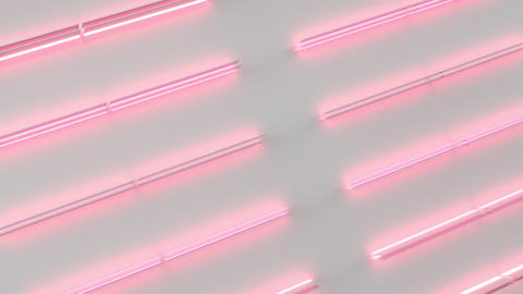 0608 White looped futuristic background with red glowing lines and elements Animation