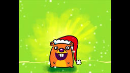 Stampon Hamster wishes you a Merry Christmas Animation