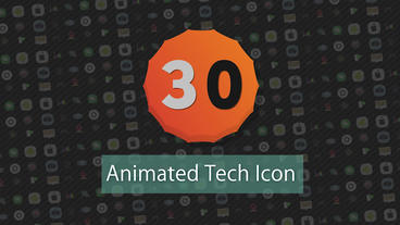 30 Animated Tech Icon Presets After Effects Animation Preset