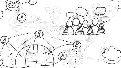 Animation. Global communication. Social networks. Social…, CG動画素材