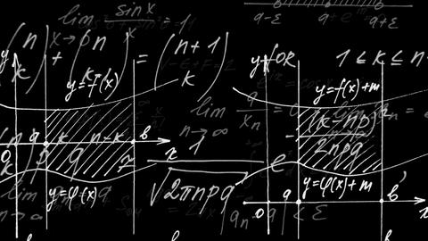 Animation on mathematics. Mathematical formulas and schedules Animation