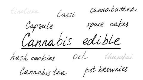Cannabis edible. Alpha channel included. Png+alpha. Animation on marijuana. Animation