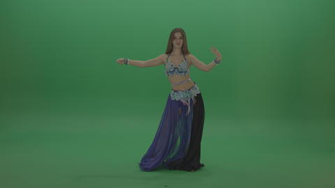 Beautiful belly dancer in purple and black attire display phenomenal dance moves ライブ動画