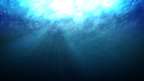 Water underWater lookUp blue Animation