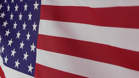 Textile United States flag Footage