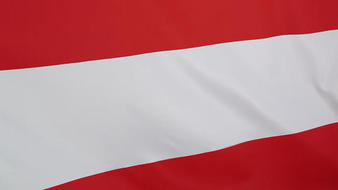 Closeup of Austrian flag in slow motion Footage