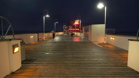 The Pier at Daytona Beach at night - DAYTONA BEACH, FLORIDA APRIL 14, 2016 Live Action
