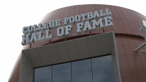 College Football Hall of Fame in Atlanta - ATLANTA, GEORGIA - APRIL 18, 2016 Footage