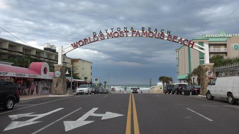 Street to worlds famous beach Daytona Beach - DAYTONA... Stock Video Footage