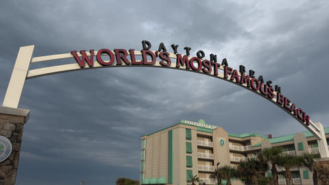 Welcome to worlds famous beach Daytona Beach - DAYTONA BEACH, FLORIDA APRIL 14,  Footage