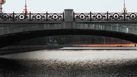 1080p Bridge Over River Svislach in Minsk, Belarus Footage
