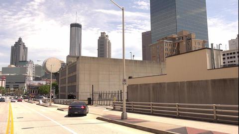 Driviing through the streets of Atlanta Downtown - ATLANTA, GEORGIA - APRIL 21,  Live Action