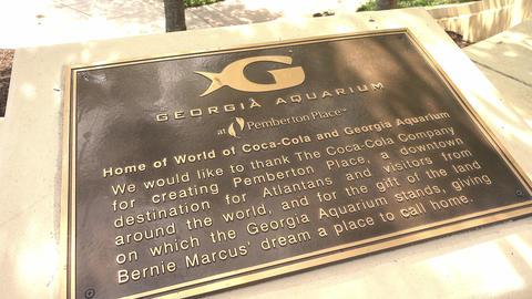 Info sign of Georgia Aquarium Atlanta - ATLANTA, GEORGIA - APRIL 21, 2016 Live Action