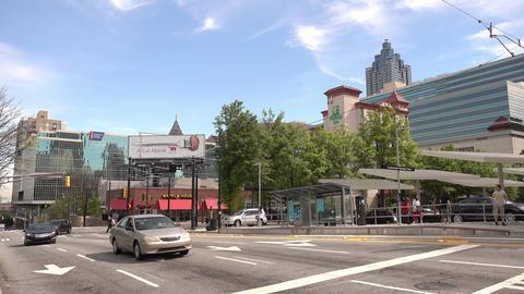 Street corner at Centennial Olympic Park Atlanta - ATLANTA, GEORGIA - APRIL 21,  Live Action