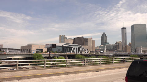 Philips Arena in Atanta Downtown - Big Atlanta letters - ATLANTA, GEORGIA - APRI Live Action