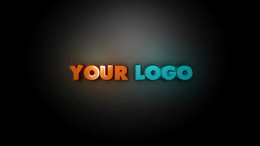 3D logo reveal with highlight After Effects Template
