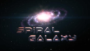 Spiral Galaxy - Galaxy Zoom Logo Stinger After Effects Template