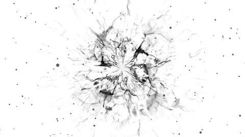 Shockwave flare black background white Animation
