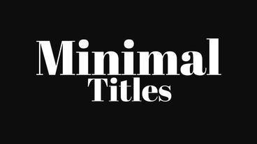 39 Minimal Titles and 38 Text Preset 애프터 이펙트 템플릿