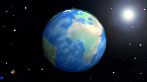 Earth spinning Animation