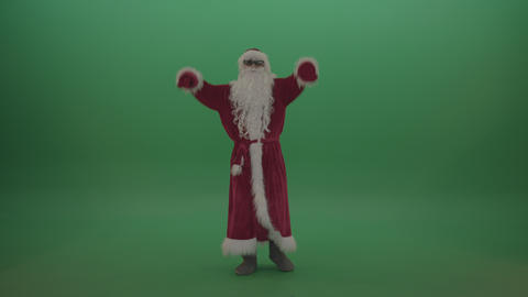 Santa with much swagger over the green screen background ライブ動画