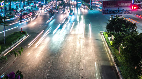 Time lapse of Ho Chi Minh City's night traffic GIF