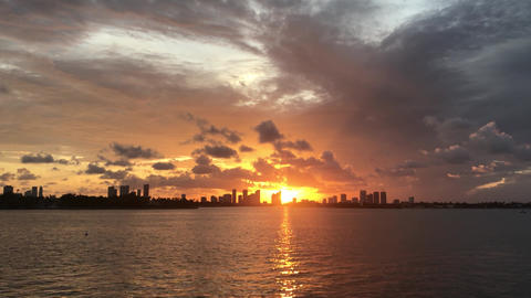 Miami florida ocean sunset Footage