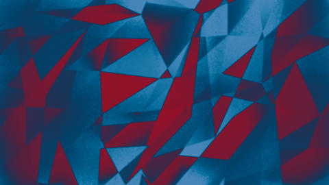 Blue Red Abstract Low Poly Random Changing Background Stock Video Footage