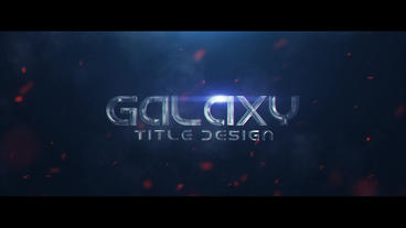 Galaxy Title Design After Effects Template