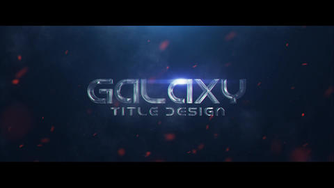 Galaxy Title Design After Effectsテンプレート